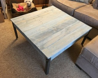 Pallet Coffee Table-Metal Legs (Shipping Included)