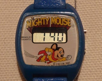 Vintage Mighty Mouse LCD Watch