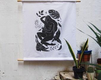 Durmiente. Digital print on linen.
