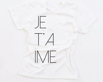je t'aime french design in classic white made by jupe & olive