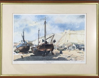 "Limited edition fine art print ""Fisherman's Beach, Hastings"" by Ron Dellar"