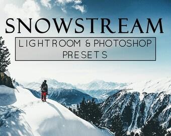 5 Snow Lightroom Presets, Snow Lightroom, Photoshop Actions, Adobe Lightroom, Film Presets, Photoshop Overlay, Holiday Lightroom, Pro Preset