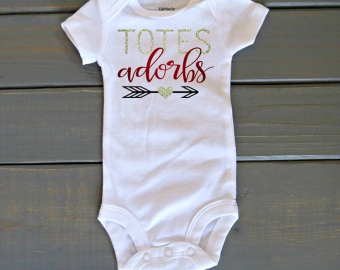 Totes Adorbs Bodysuit, Cute Baby Clothing, Girls' Tops, Baby Shower Gift, Baby Girl Clothing