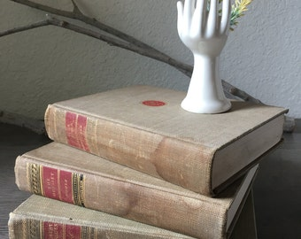 Vintage Classic Club Library Book Set, Distressed books, photography props