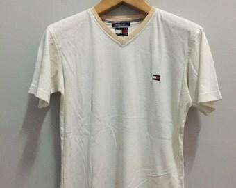 Vintage Tommy Hilfiger V Neck T Shirt