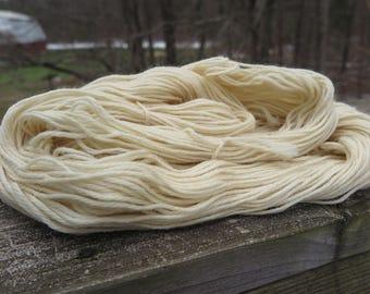 Bare U.S. Wool Worsted Weight Yarn, undyed yarn, dyeable yarn