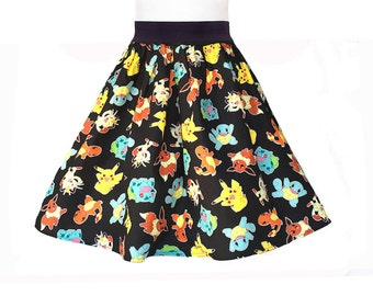 Pokemon Go Skirt, Pikachu Skirt, Pokemon Party Skirt Dress, Pokemon Skirt, Nintendo Pokemon Go Dress