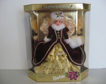 New! - Vintage 1996 - Barbie Happy Holidays' - Special Edition Mint Condition Doll