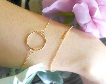 End bracelet, two styles, minimalist jewelry