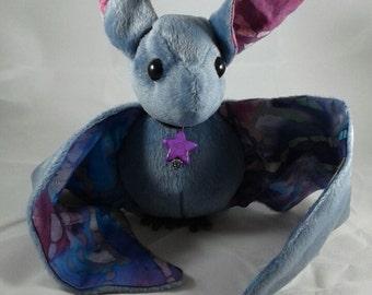 Blue & Purple Batik Bat Plush
