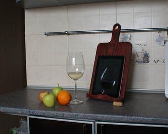 recipe book holder wooden tablet holder for kitchen wedding gift gift for mom