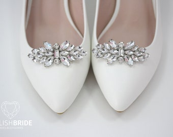 Shoe Clips, Rhinestone Shoe Clips, Bridal Shoe Clips, Rhinestone Shiny Shoe Clips, Wedding Shoe Clips, Shoe Clips for Wedding Shoes