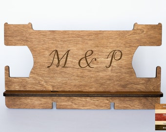 Personalized gifts for couple, Anniversary Gift, Wooden phone stand, Phone dock, Docking stating iPhone charging station, Mens birthday gift