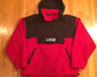 Vintage Eddie Bauer EBTEK jacket size L red black packable hood