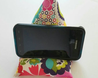 Cell phone pillow-iPhone stand-Cell phone holder-Phone Prop-Phone Bean bag-Cell Phone accessories-Electronics and accessories-Gadget holder