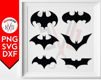Batman silhouette SVG Cut Files Batman Clipart Bat Silhouette Bat Clip art for Vinyl Cutter Bat Logo Svg batman Logo Silhouette Svg PNG DXF