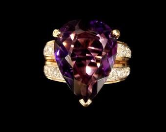 DIAMOND AMETHYST RING
