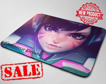 D.VA Overwatch Mouse Pad. Overwatch Mouse Pad. (Customize it by adding text)
