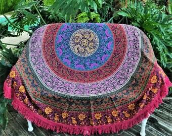 Mandala Round Tapestry, Mandala Roundie, Boho decor, Round Tapestry, Beach blanket, picnic blanket, boho party decor, bohemian tablecloth