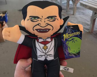 Classic Dracula Bela Lugosi plush! Oficially licensed Universal Monster! New with tag. Classic vintage horror movie collectible.