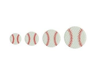 Baseball Mini Machine Embroidery Design. 4 sizes. Instant download