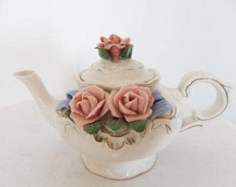 Teapot old Shabby Chic Roses