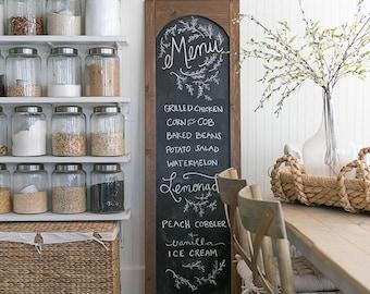 Menu Chalkboard | Rustic Framed Chalkboard | Blackboard | Framed Chalkboard | Restaurant | Chalkboard Sign