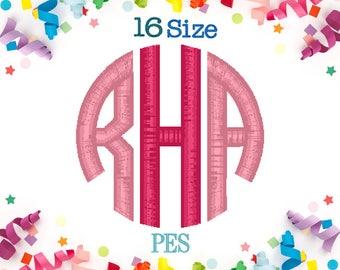 16 Sizes Circle Monogram Embroidery Font PES Format Embroidery Machine,Monogram Embroidery,Embroidery Font,Embroidery Design,Monogram Font