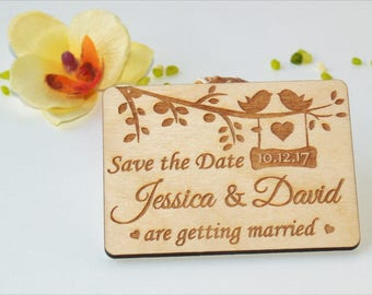 save the date invitations save the date rustic save the date magnet wood - Wedding Invitations And Save The Dates