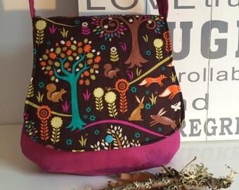 Favourite handbag shoulder bag forest animals