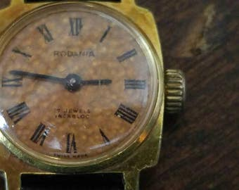 Women's Vintage Rodania Incabloc 17 Jewel Mechanical Hand Wind Watch Swiss Made Work Well