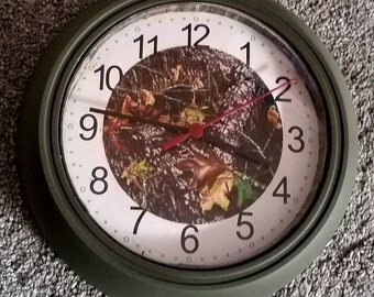 Camouflage Clock Realtree Mossy Oak Hunting Man Cave