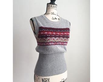 Vintage Sweater Vest, 90s Sweater Vest, 1990s Vest