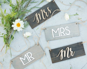 Mr and Mrs Signs, Mrs and Mrs, Mr and Mr,Wedding Signs,Bride and Groom,Mrs Sign,Mr Sign,Wedding Chair Signs,Mr and Mrs Decor,Bride and Groom