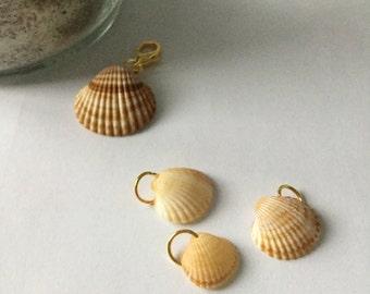 4 PENDANTS shells, shells, shells, charms, shells jewelry jewellery