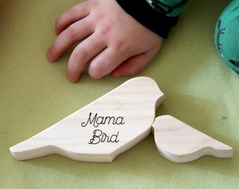 Sale, Mama Bird, Mothers day, Wooden stacking toy, Wooden toys, toddler toy, eco-friendly, waldorf