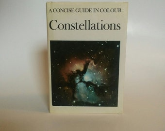 Constellations: A Concise Guide in Color Vintage Book Science Collectible