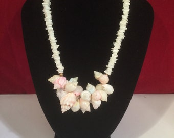 Vintage White Multi-Shell Necklace