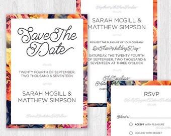 Floral Wedding Stationary Set
