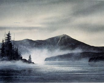 Adirondack Mountains Watercolor Whiteface