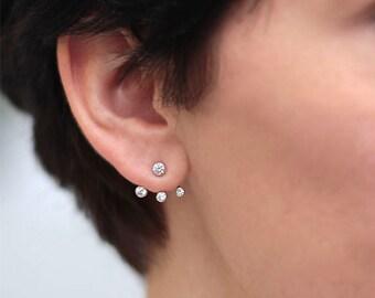 GARGOYLE - 925 Silver earrings, earrings cubic zirconia, crystals