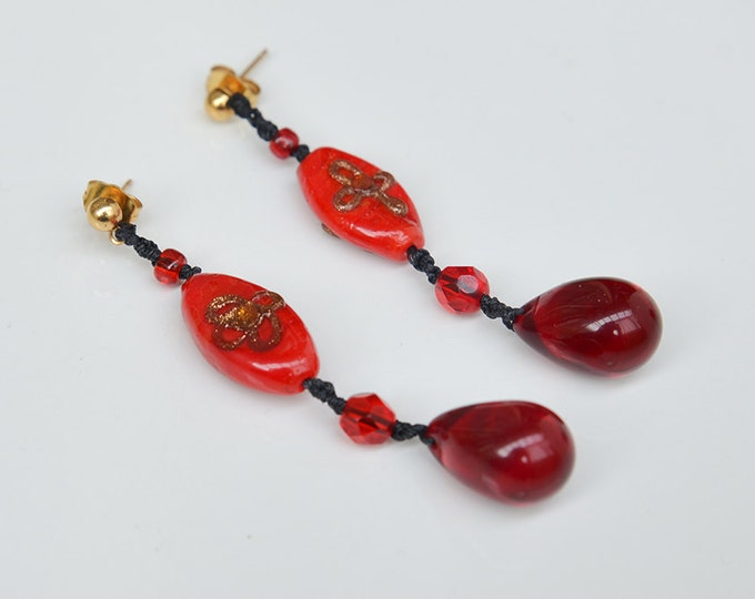 Teardrop earrings, inspired by the 1920s - gifts for her / valentine's gift