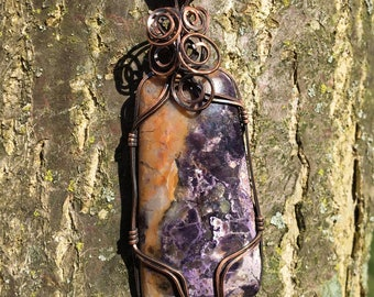 Wire-wrapped Tiffany Stone Pendant