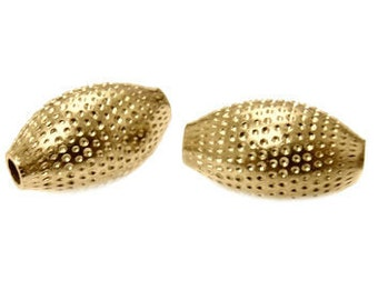 14x8mm Gold Filled Dimple Oval Beads 14/20kt.