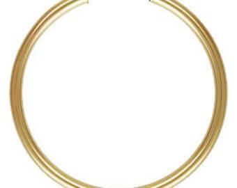 Gold Filled Endless Hoop Earrings - Choose Size