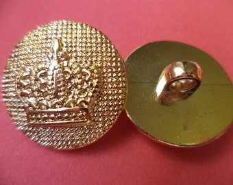 6 buttons gold 22mm (1732) button