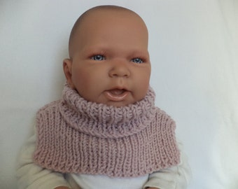 Baby scarf knitted Merino Wool Snood