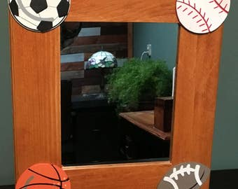 Children's Room - Sports Themed Mirror