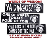 "DR. STEVE BRULE - ""Words of Wisdom"": Series #1 Bumper Stickers -  2.8"" x 11"" 4 Mil Vinyl Bumper Stickers - Check It Out! - Adult Swim"