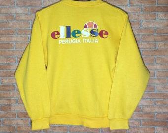 Rare!!! Vintage ELLESSE Big Logo sweatshirt Pullover Original ellesse Perugia ITALY Jacket size S